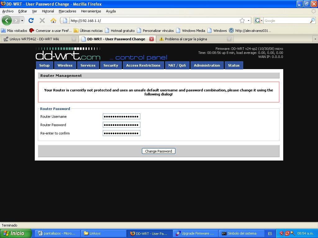 Cambio de firmware Router Linksys WRT54G2 V 1 – Juancho's Blog