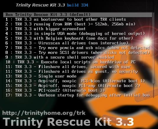Download Trinity Rescue Kit   Build  Iso